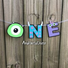 Monsters Inc One First Birthday Party Banner - Monsters Inc First Birthday High Chair Banner - ONE Monster University Birthday, Monster First Birthday, Boys First Birthday Party Ideas, Monster 1st Birthdays, Monster Birthday Parties, 1st Boy Birthday, First Birthday Parties, First Birthdays, Birthday Chair