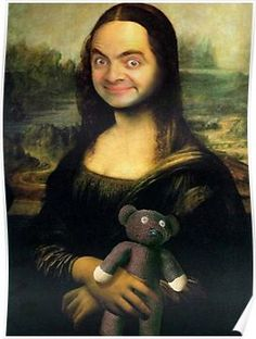 Mr Bean - Mona Lisa Poster