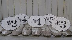 Vintage WEDDING TABLE NUMBERS Shabby Chic by MyPrimitiveBoutique, $9.50