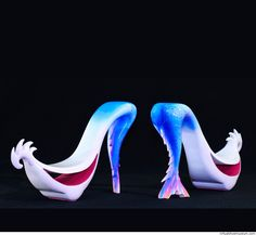 Unique handmade shoes, 2015. Inspired by the mermaid who has always attracted the attention of people from many different fields of art. The mermaid widely presents human life and these shoes honor it