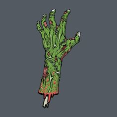 Awesome 'Zombie hand copping a feel' t-shirt design on TeePublic! #zombie #halloween #tee #shirt