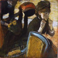 Al di la modista ((1882))  - Degas Edgar (1834-1917) - STAMPA SU TELA € 21,67