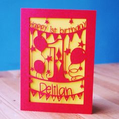 personalised first birthday card by pogofandango | notonthehighstreet.com