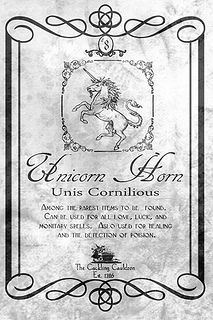 Unicorn Horn Label by a_granger, via Flickr