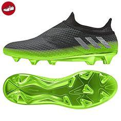 reputable site e387b 4f2e5 adidas Messi 16+ Pureagility FG Techfit Socke Space Dust grün grau, Größe 42