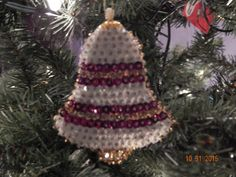 SALE:  Holiday Bells Sequined Ornament by Sunrise Craft and Hobby Co. by NanaJansXmasCrafts on Etsy