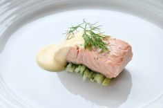 3rd Course Poached Salmon with Mousseline Sauce by by Chatrium Hotel Riverside Bangkok
