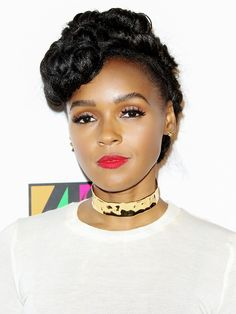 Obsessing over Janelle Monae's gorgeous red statement lip