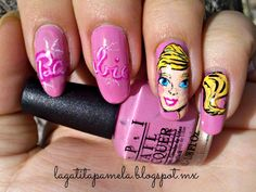 barbie nails. Not THAT girly, but this is kinda cool! Not to mention a little creepy.