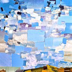 """Saatchi Art Artist Geoff Howard; Collage, """"Memories of Blue Days"""" #art"""