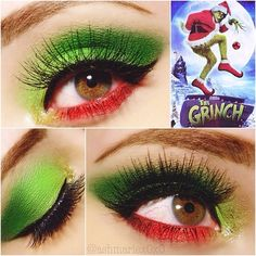 christmas theme makeup - Google Search