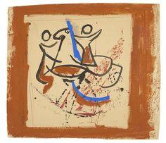 MARINO MARINI (1901-1980) Senza titolo 21 3/4 x 24 1/2 in (55.3 x 62.3 cm)