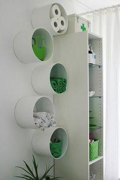 Estante de tubo de cartón.... ecológico, fácil y se ve muy bien!!