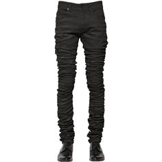 Diesel Black Gold Men 16.5cm 3d Extra Long Stretch Denim Jeans ($495) ❤ liked on Polyvore featuring men's fashion, men's clothing, men's jeans, pants, men, jeans, black, mens stretch denim jeans, mens slim fit jeans and mens distressed jeans