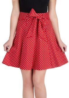 Muse dArt Moderne Skirt in Red   Mod Retro Vintage Skirts   ModCloth.com