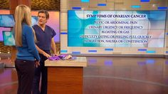 The Symptoms of Ovarian Cancer: Dr. Oz explains how pelvic or abdominal pain, urinary urgency bloating difficulty eating and indigestion, nausea and constipation are all signs of ovarian cancer.