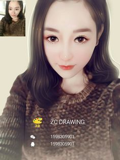 Contact me to draw your photo Whatsapp: 008618675320217 Wechat/QQ: 1598305901 Email: zcdrawing@foxmail.com  Only need to send me your original photo, better clear one. Within 3 days will finish. Accept Paypal.  #lovelygirl #prettygirl #girl #beautiful #fashionblogger #digitalart #painting #drawing #digitaldrawing #eyes #blusher #eyebrows #eyeliner #eyelashes #bluehair #longhair #loveyou #curlyhair #portraits #luhan #xiaoluhan  #photography #photographer #usa #euro #Australia #UK #brown…