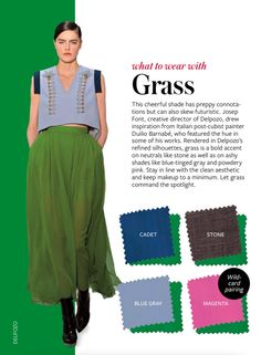 Grass - What to wear with - color crash course