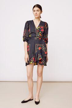 Stylein - Jones Dress in flower print Wrap Dress Short, Swedish Fashion, Flower Prints, Dress Making, Fashion Brand, Perfect Fit, Thighs, Cotton Fabric, Stylists