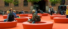 LOOP | a playful and informal urban element by out-sider, Denmark. LOOP is available in 12 colors. Made in rotation moulded polyethylene, sturdy, UV-resistant, and suitable for complete recycling. Urban Furniture, Street Furniture, Outdoor Furniture Sets, Recycling Facts, City Works, Wood Supply, Public Realm, Used Vinyl, Design Thinking
