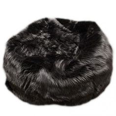 5e7f85b5ab3f Fuzzy Fur Black Bean Bag Chair Modern Bean Bag Chairs