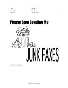 fax machine cover sheet