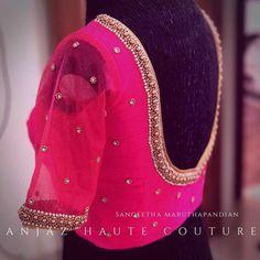 Kids Blouse Designs, Pattu Saree Blouse Designs, Simple Blouse Designs, Stylish Blouse Design, Silk Saree Blouse Designs, Bridal Blouse Designs, Blouse Neck Designs, Simple Blouse Pattern, Maggam Work Designs