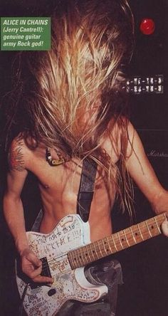 Jerry Cantrell of #AliceInChains #grunge