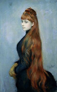 Paul Cesar Helleu | 1859-1927, France | portrait of mademoiselle Alice Guerin…