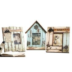 "Check out this item at One Kings Lane! 16"" Weathered Wood Frames, Asst. of 3"