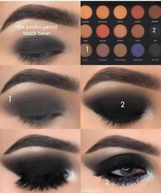makeup looks How to get perfect Smokey eye 😍 Yay or Nay? Pic by the most amazi. How to get perfect Smokey eye 😍 Yay or Nay? Pic by the most amazing Black Eye Makeup, Smoky Eye Makeup, Eye Makeup Steps, Makeup For Brown Eyes, Smoky Eyeshadow, Cute Makeup, Gorgeous Makeup, Awesome Makeup, Prom Makeup