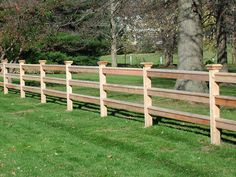 split rail wood fence i like that the ends are flush with the posts