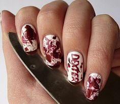 Dexter | 19 Must Have Literary Manicures #Fall #Nails