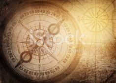 Pirate and nautical theme grunge background Adventure Photos, Illustrations, Nautical Theme, Compass Tattoo, Image Now, Pirates, Grunge, Vintage World Maps, Photo Editing