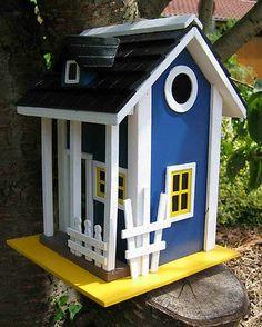 Maison DE Volière D'Oiseaux Nichoir Maison DE Nidification EN Bois Massif   eBay