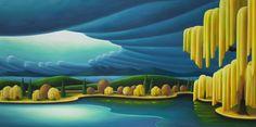 """Aura"" (Lost Lagoon) 30 x 60 oil on canvas Landscape Art, Landscape Paintings, Magic Realism, Canadian Artists, Spray Painting, British Columbia, Painting Inspiration, Sculpture Art, Folk Art"