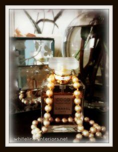 pearls Coco Chanel -www.whitelineninteriors.net