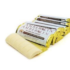 Amber Lyn - Fine Belgian Chocolate Bar - White Chocolate - 1 Bar - Low Carb Canada