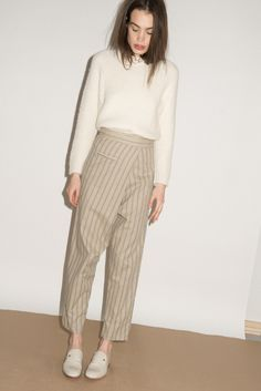 Jane Sweater and Charlie pant in stripe