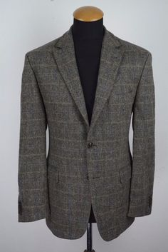 Christian Berg Tweed Men's Blazer 40R (50 DE). Cloth: 100% wool. Single breasted 2 buttons Blazer, double vented. | eBay!