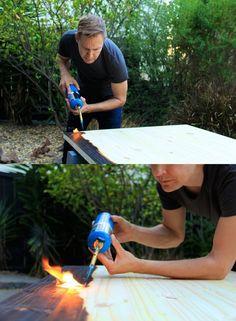 SHOU SUGI BAN Technique Japonaise consistant à bruler en surface le bois pour le rendre imputrescible et lui donner une teinte unique !