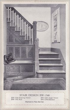 1920 Entry with Seat by American Vintage Home, via Flickr reminds me of the house I grew up in