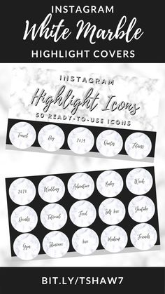 Amazing white marble Instagram highlight covers to take your Instagram game to the next level!