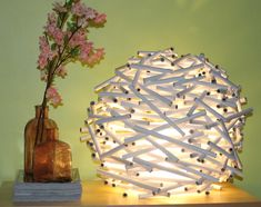 {DIY} How To Make A Bird's Nest Lamp Shade Out of Newspaper