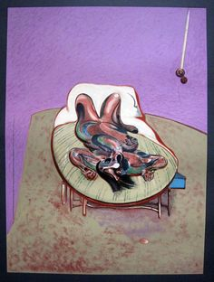 Francis Bacon 1966 Farblithographie Lying Figure Liegender Akt