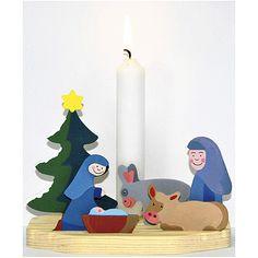 Eduplay, Kerzenhalter Krippe Mini-Bastel-Krippe mit Kerzenhalter zum selber…