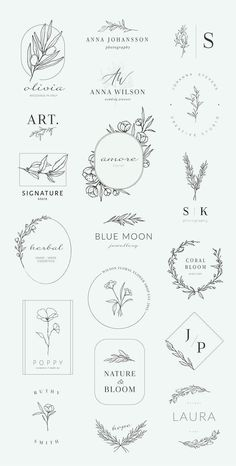 Botanical logos illustrations by Crocus Paperi on Creative Market calligraphy&; Botanical logos illustrations by Crocus Paperi on Creative Market calligraphy&; Charlize Ellermann charlizeellerma Hand lettering fonts Botanical logos […] a buchstabe Illustration Design Graphique, Illustration Botanique, Botanical Illustration, Wedding Illustration, Botanical Drawings, Hand Illustration, Botanical Art, Botanical Gardens, Logo Floral