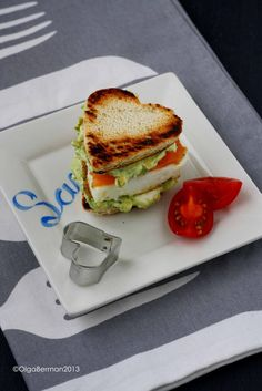 Mango & Tomato: A Heart Shaped Breakfast for Valentine's Day or ANY Weekend: Smoked Salmon, Egg & Avocado Cilantro Cream Cheese on an English Muffin