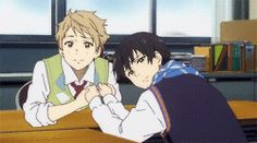 gif bbies Beyond the Boundary sanitried Kyoukai no Kanata beyond the horizon kanbara akihito Nase Hiromi pure waist otp