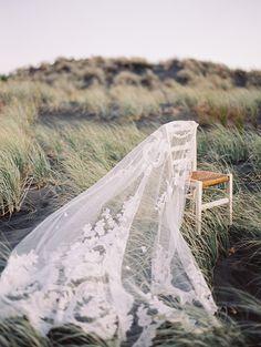 Rue De Seine Vintage Lace Wedding Veil   Erich McVey Photography   See More! http://heyweddinglady.com/ivory-embroidery-vintage-lace-wedding-inspiration/